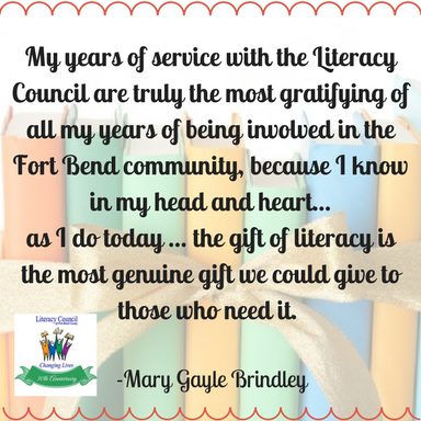 Mary Gayle Brindley LCFBC Advisory Council Member & Community Volunteer