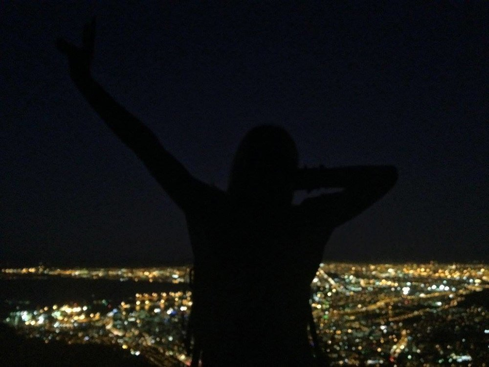 On top of Lion's Head at night= incredible city light views.