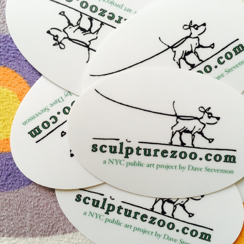 Sculpturezoo sticker promo