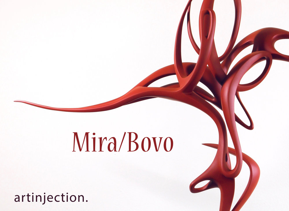I've updated BOTH of my websites. Do a fly by and lemme know what you think. Yup, I even truncated (finally!) that long a** yawn-inducing Artinjection BIO!  Mira/Bovo , my first double-portrait, juxtaposes two of my favorite contemporary dancers  Mira Cook  and  Giorgia Bovo . This sculpture was directly inspired by their astonishing performances last fall with  Indelible Dance  in  No Man's Land— choreographed by  Robin Cantrell (NYC) —during which Mira Cook was  eight months pregnant!  My first abstract portrait of a dancer/choreographer was Cantrell (2016). Since Mira/Bovo was equally challenging and rewarding to create, I plan to expand the series in 2019.