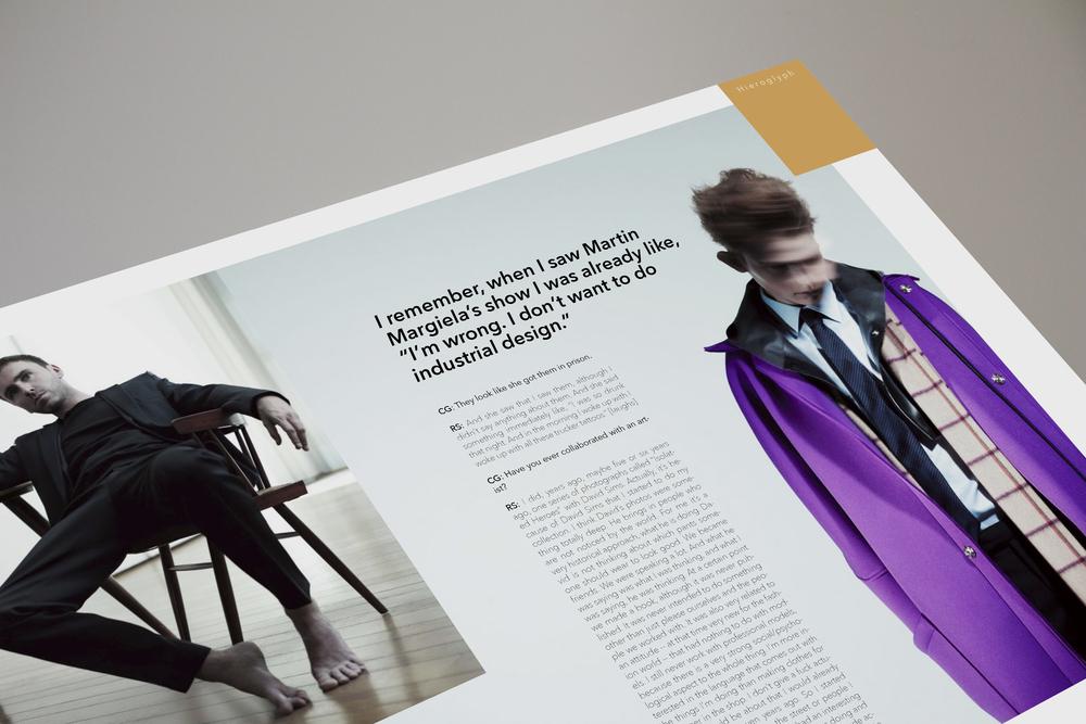 Raf Simons Magazine