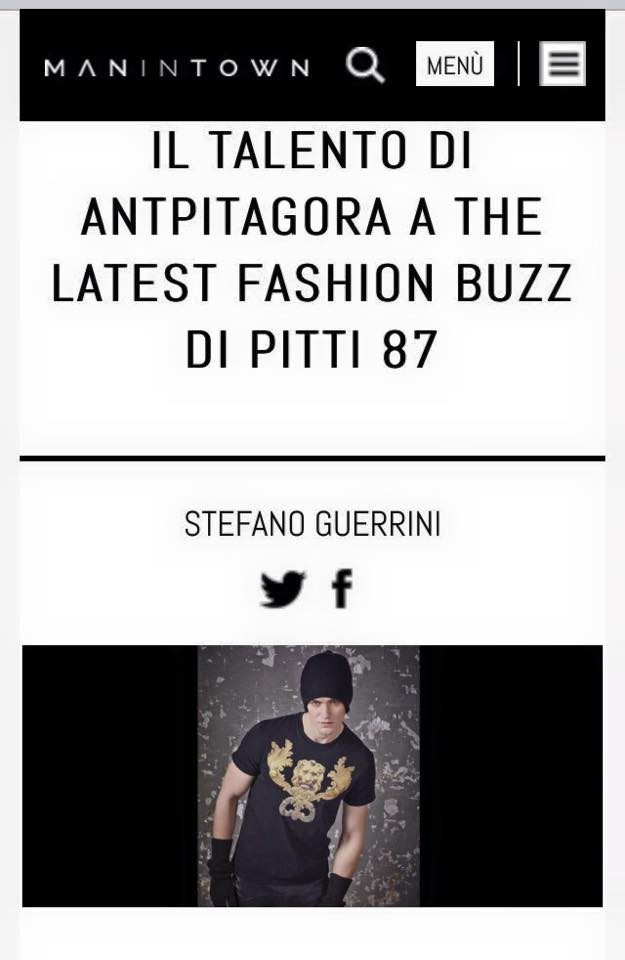 Man in Town - Stefano Guerrini - IL TALENTO DI ANTPITAGORA A THE LATEST FASHION BUZZ DI PITTI 87