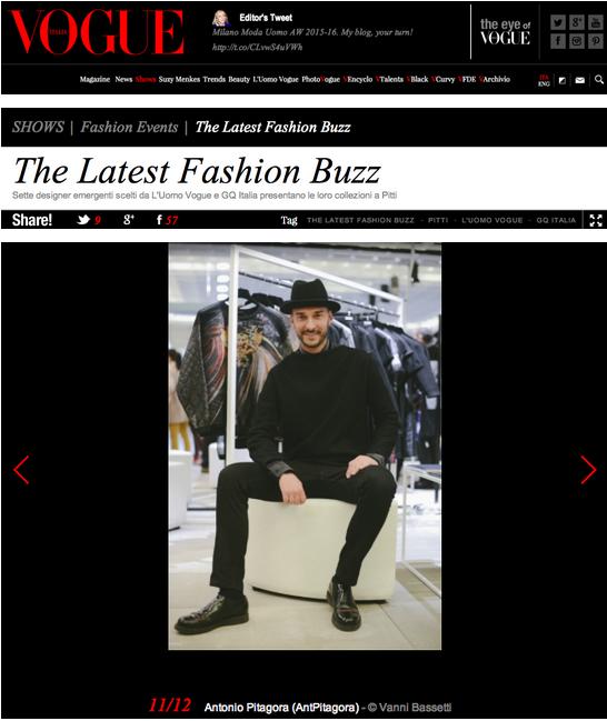 Antonio Pitagora - Vogue Italia
