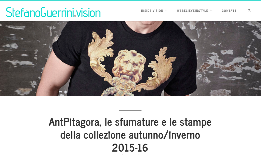 StefanoGuerrini.Vision Blog- AntPitagora FW.2014/16 collection