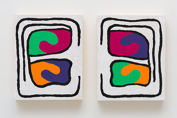Monique Prieto, Orange Julius®, 2016, acrylic on wood panel, 17 ½ x 8 x 1 ½ inches