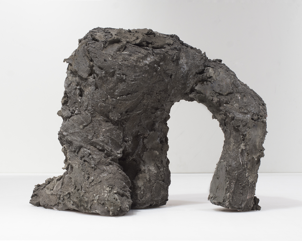 Evans Wittenberg, Rising Figure, 2015 hydraulic cement 14 x 9 x 15 inches