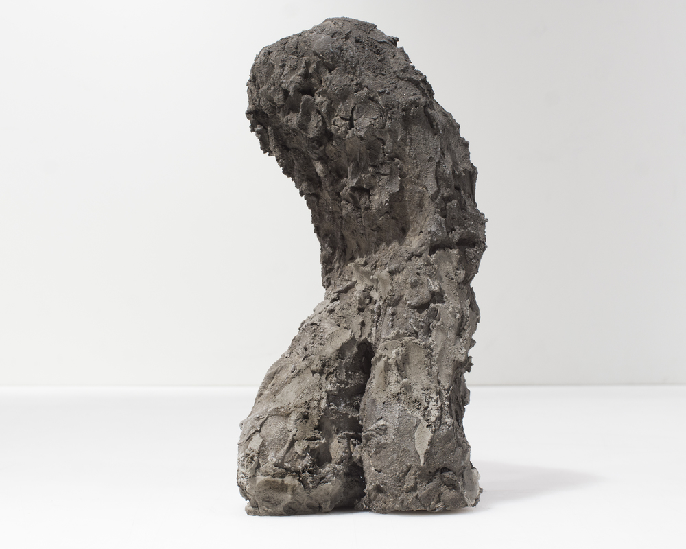 Evans Wittenberg, Leaning Figure, 2015 hydraulic cement 13 x 6 x 6 inches