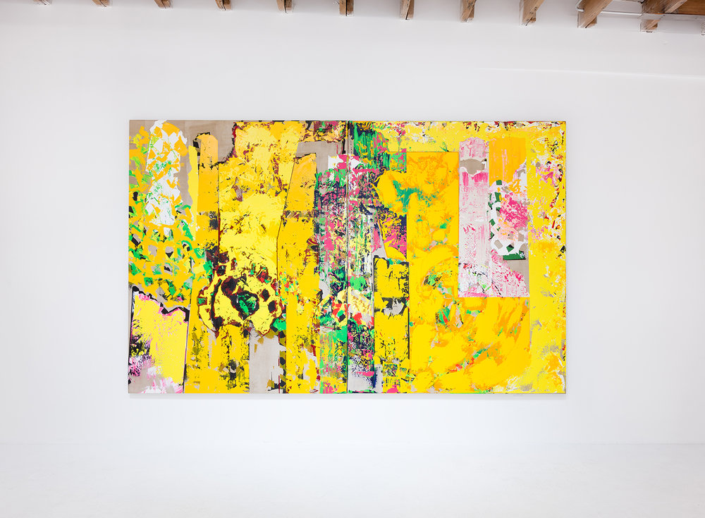 C. Michael Norton, What A Wallop, 2010, acrylic on canvas 90 x 144 inches. Photo: Ruben Diaz