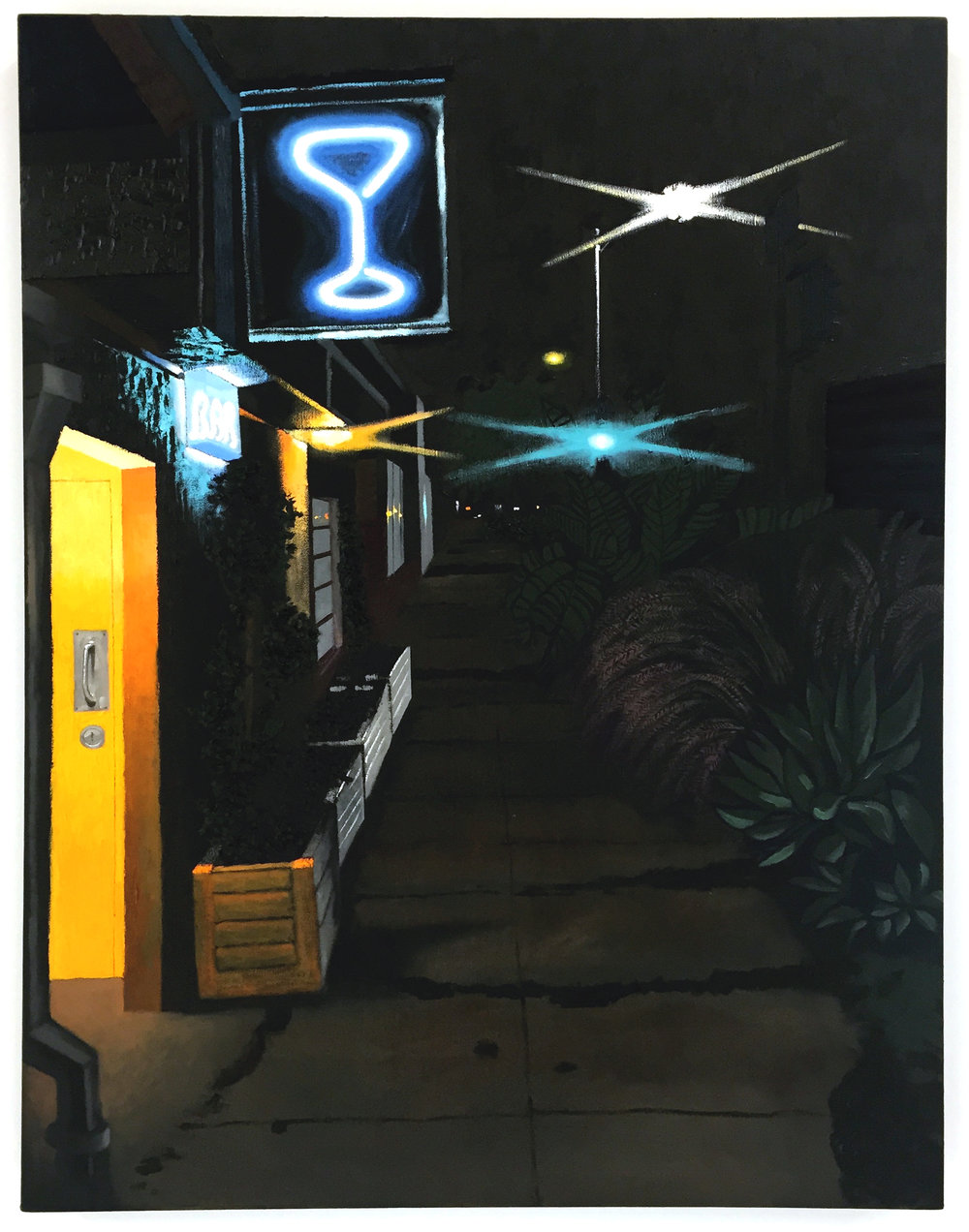 Cole Case,  Mandrake Nocturne , 2016, oil on canvas, 43 x 33 inches