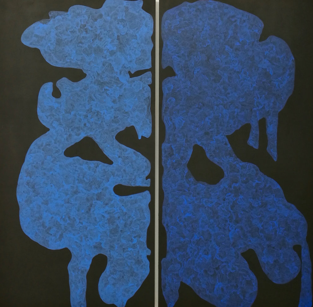 "Monique Prieto, Blue Set, 2017, 72"" x 72.5"""