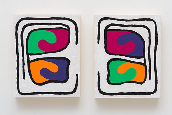 Monique Prieto,  Orange Julius  ® , 2016, acrylic on wood panel, 17 ½ x 8 x 1 ½ inches