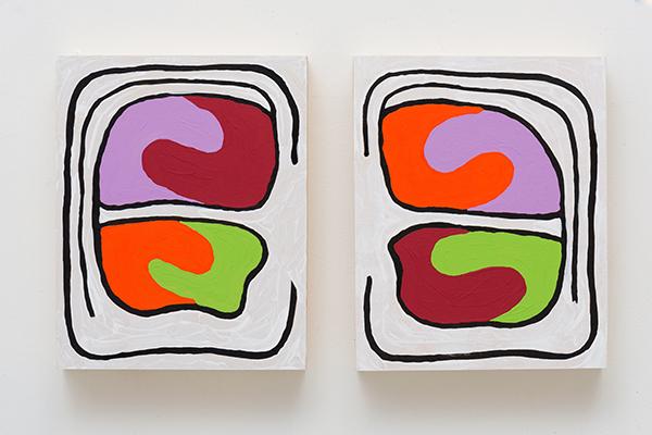Monique Prieto,  Creamsicle , 2016, acrylic on wood panel, 17 ½ x 8 x 1 ½ inches