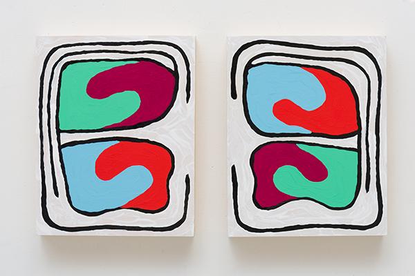 Monique Prieto,  V8  ® , 2016, acrylic on wood panel, 17 ½ x 8 x 1 ½ inches
