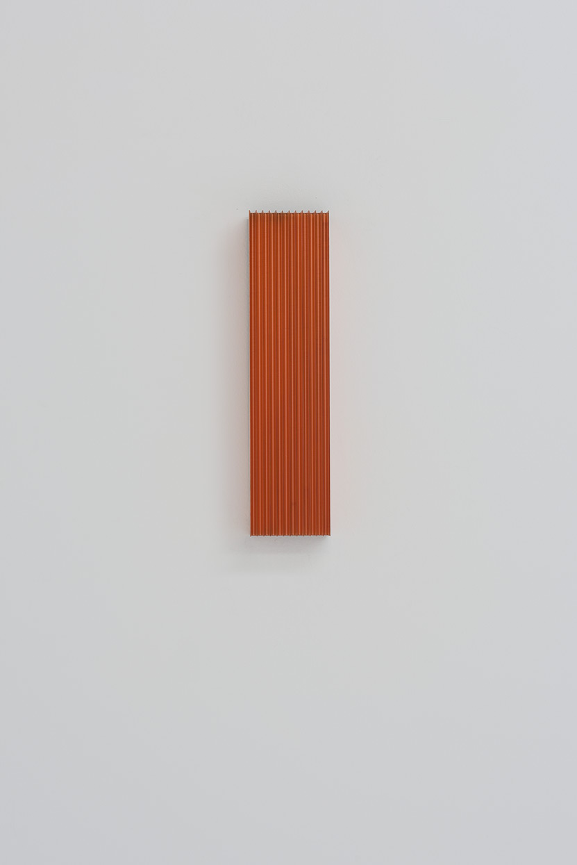 Roy Thurston,  2012-1 , 2015, milled copper with clear acrylic polyurethane, 12 x 3 x 1 3⁄4 inches