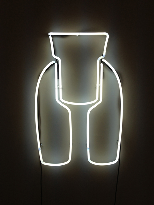 Allie Pohl,  Ideal Woman: 3 ft Neon, White,  2013, neon, one transformer, 36 x 21 inches