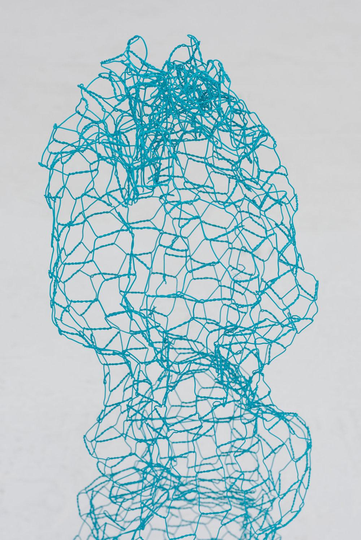 Talia Shipman 'Cacti' (detail), Chicken wire, concrete, dimension variable. Photo: Ruben Diaz