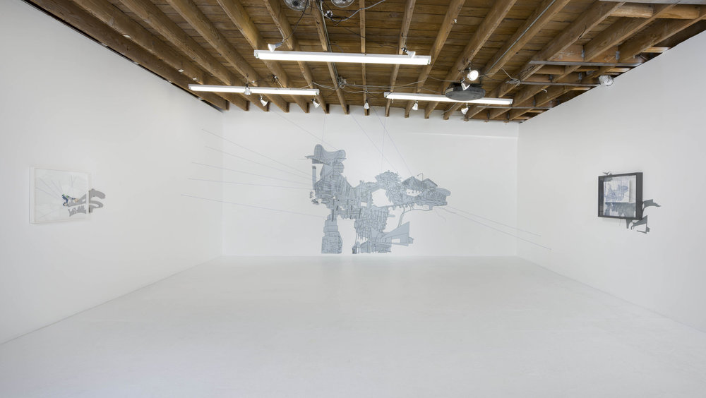 Kim Schoenstadt, 'Context v. Perspective'. Installation view, Chimento Contemporary. Photo: Ruben Diaz.