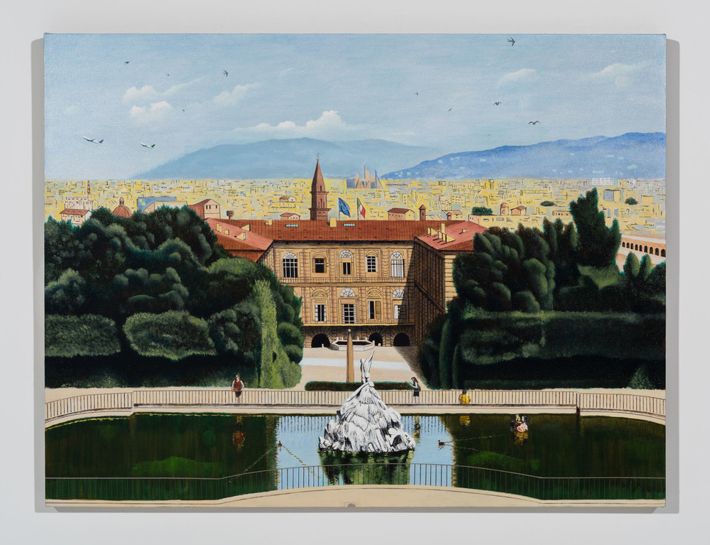 Pitti Palace and Boboli Gardens Looking 330 Degrees NW, 2018