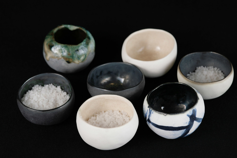 tiny salt and bud vessels