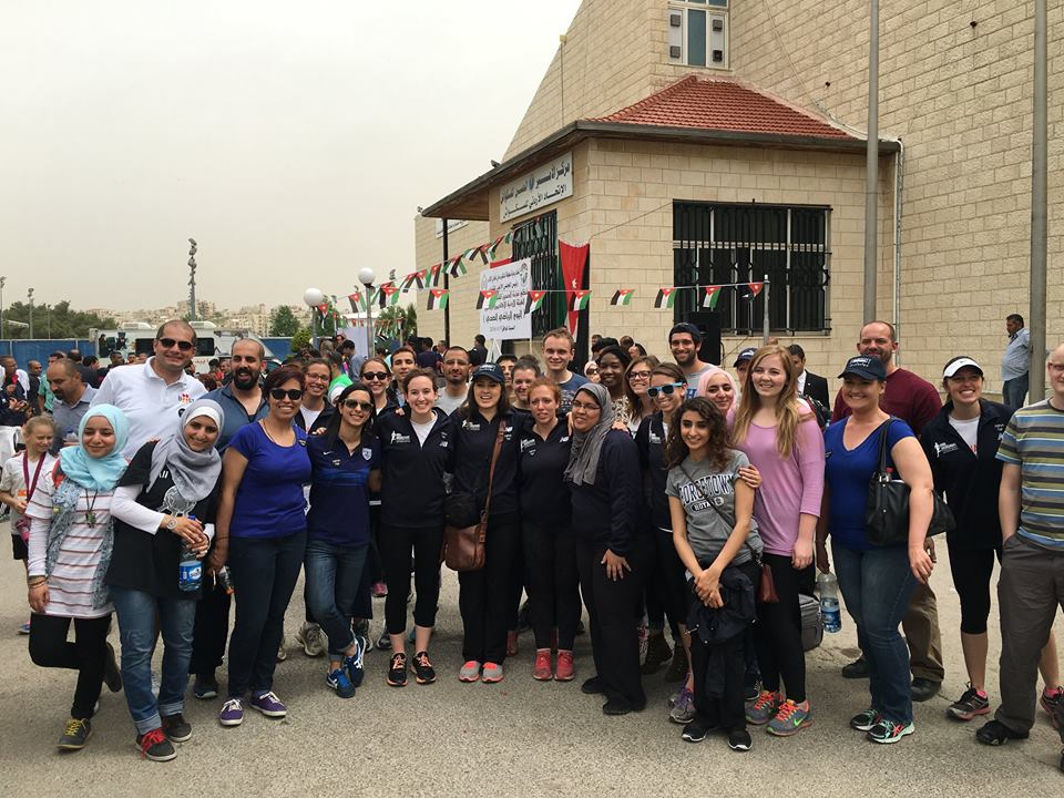 Samah and volunteers at the 2016 Nina Brekelmans Race for Girls in Amman, Jordan.