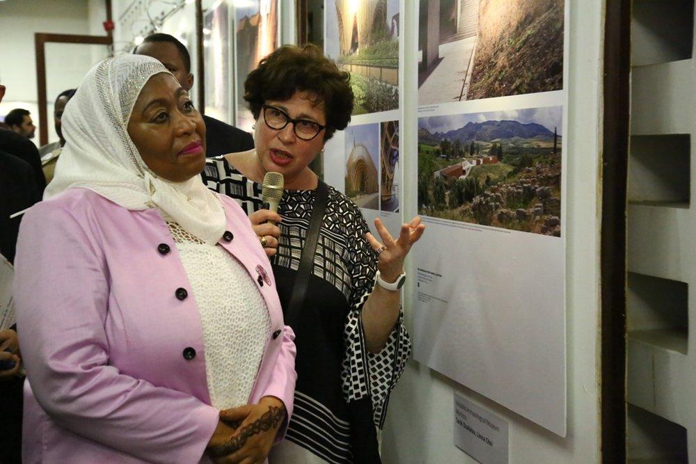 L'architecture française présentée àMadame Samia Suluhu, Vice-Présidente de Tanzanie