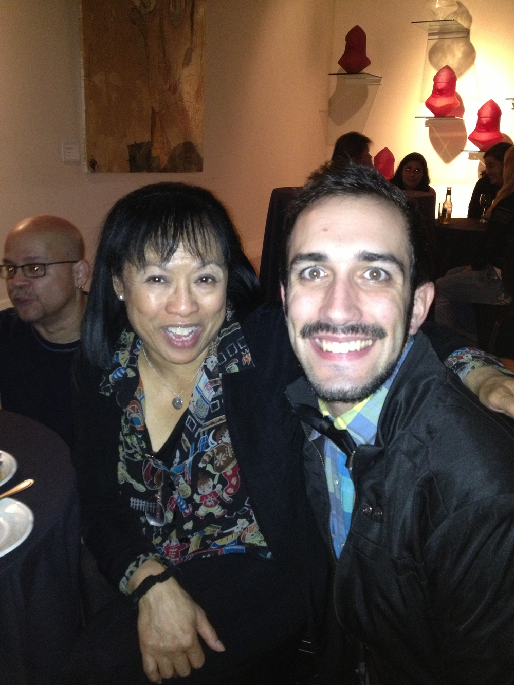 "With Director/Choreographer Baayork Lee at the opening night of the National Tour of ""A Chorus Line"""