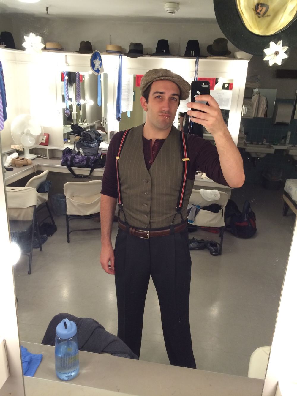 "Backstage at the Goodspeed Opera House's production of ""Irving Berlin's Holiday Inn"""