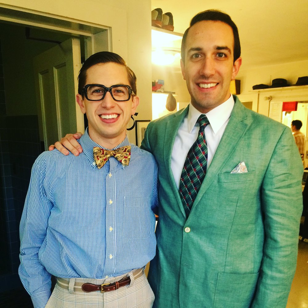 "Backstage at ""Bye Bye Birdie"" at the Goodspeed Opera House with Jake Swain"