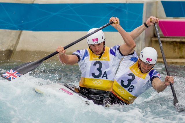 London 2012, Olympic Final. Tim Baillie (3A), Etienne Stott (3B). Photo credit: Anthony Edmonds