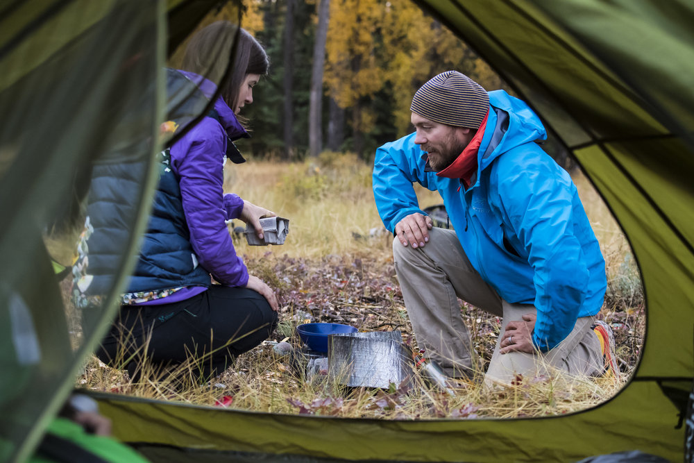 Breakfast cooked on a backpacking stove in the woods is better than any restaurant!