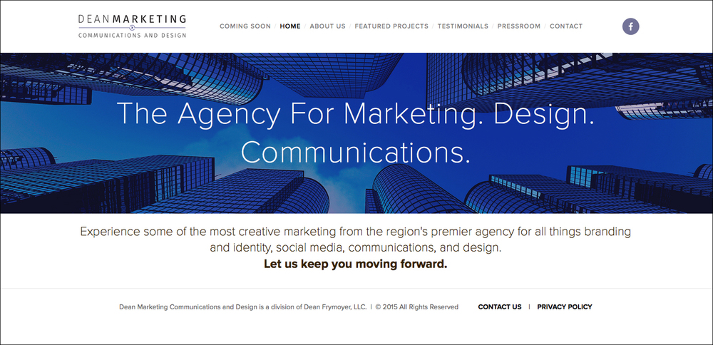 Dean Marketing Communications and Design Website