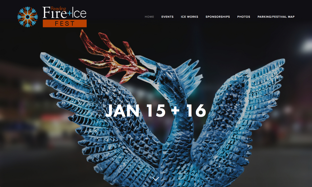 Reading Fire and Ice Fest Website
