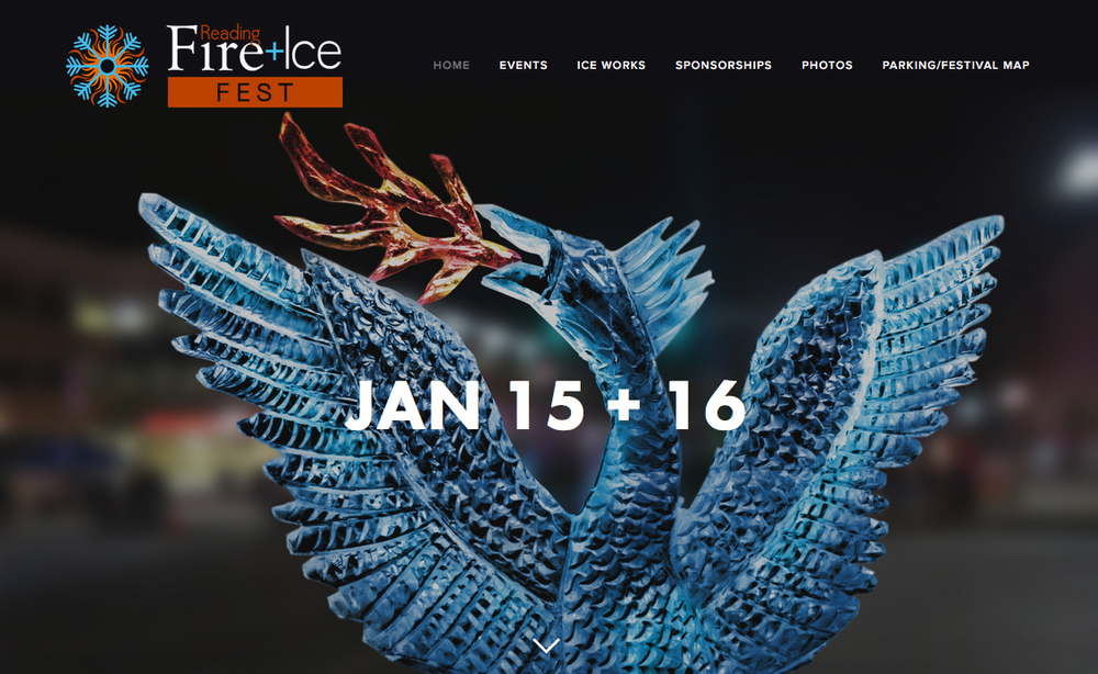Homepage screenshot of the ALL-NEW Fire + Ice website design from Dean Marketing.
