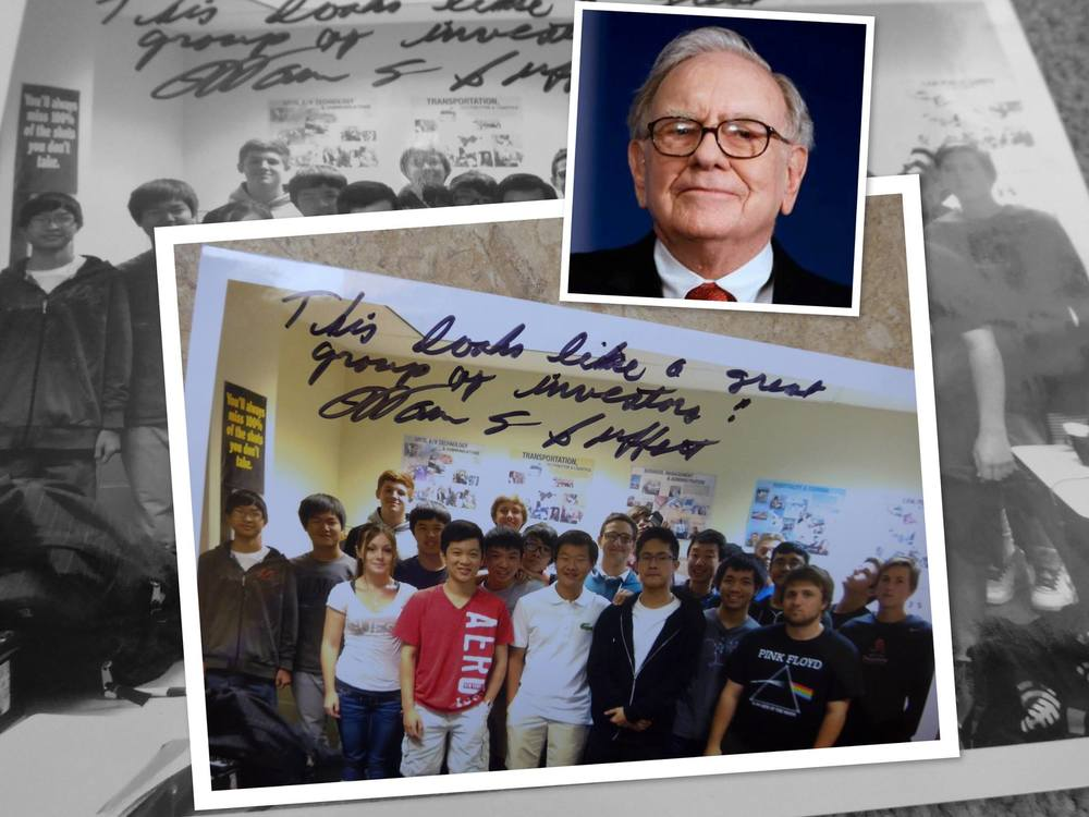 "EXTREMELY EXCITING NEWS!  Maximillian Yu, the founder and president of Junior Investors League, personally sent a letter on behalf of JIL to Mr. Warren Buffett to tell him what we are doing here as a group in AZ. Today we received a reply from him with a note and a signature on our group photo! Thank  you Mr. Warren Buffett  for the time you spent reading the letter and taking additional time to write back to us! The note reads:  ""This looks like a great group of investors!"" ~ Warren Buffett"