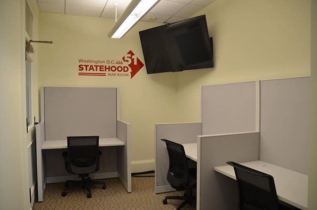 "Over the past summer, TPM constructed the Washington, DC ""Statehood War Room"" in the Wilson Building for Mayor Muriel E. Bowser. The room will serve as the headquarters for the mayor's campaign to gain DC Statehood. We built out space, provided IT Cabling, upgraded electrical, and supplied and installed workstations for the new space. #DCStatehood #projectmanagement #dcmayor #dc"
