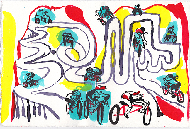 Drawing for Two Wheels, 2015