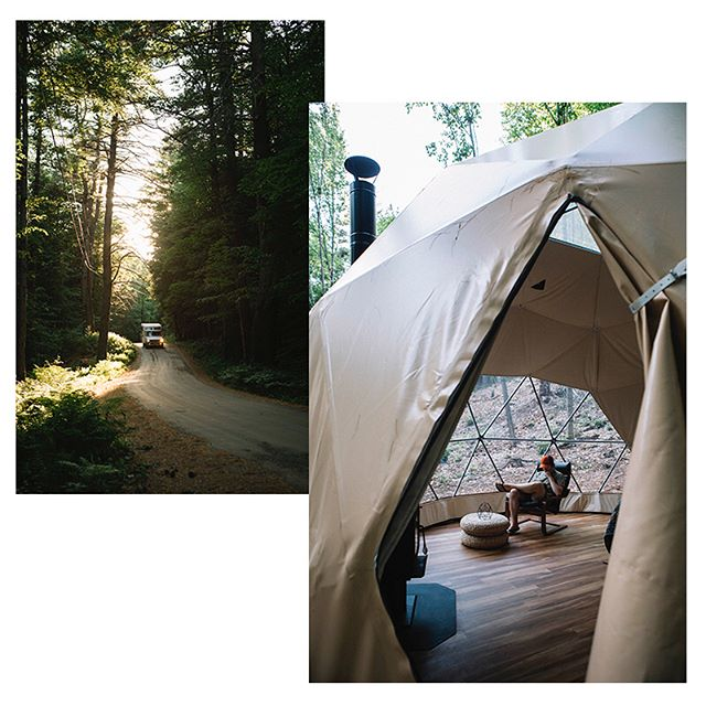 Quarry Brook Geodesic Dome, Putney, VT. We woke up to roosters crowing and crows cackling. The co-op in town had kombucha on tap, we discovered what bumbleberry pie was, slept under the whispering pines all night. I could stay in Vermont for basically forever. #findyourselfoutside #hipcamp