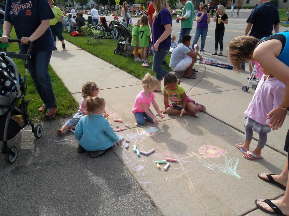 Sidewalk chalk for the kids!