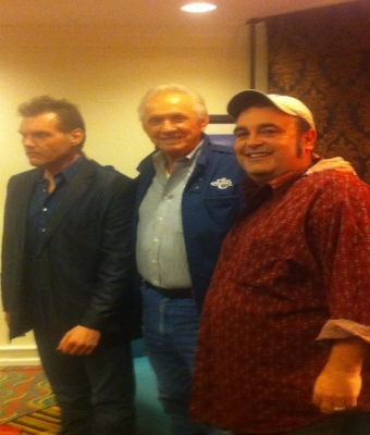 Steve And Randy flanking Country Music Legend MEL TILLIS at CRS!!!