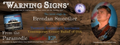"""Be sure to catch Brendan's latest single, """"WARNING SIGNS."""""""