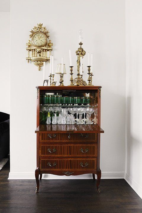 Vintage Secretary Desk as Bar Cart.jpg