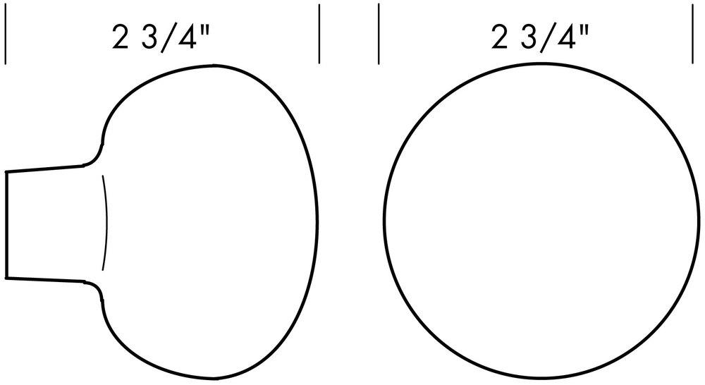 K-222 Big Bob Door Knob Specifications