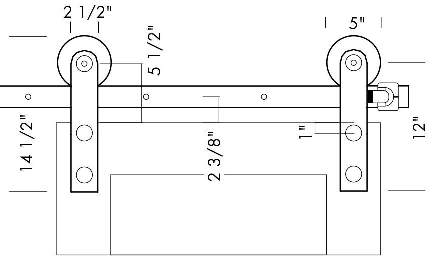 BRN-504 Sliding Barn Door Track Specifications  sc 1 st  Sun Valley Bronze & BRN-504 Sliding Barn Door Track | Sun Valley Bronze