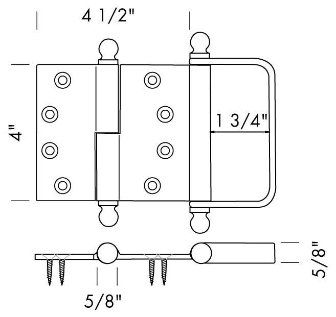 BH 4040BFP Bi Fold Door Hinge With Pull Specifications