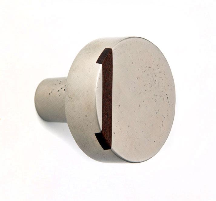 K W317 Round Flat Inlay Door Knob