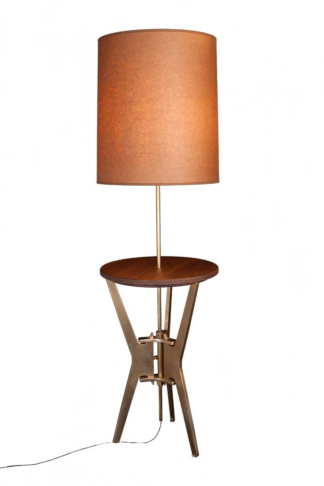 Ta 16ls Berkeley Side Table With Lamp Sun Valley Bronze