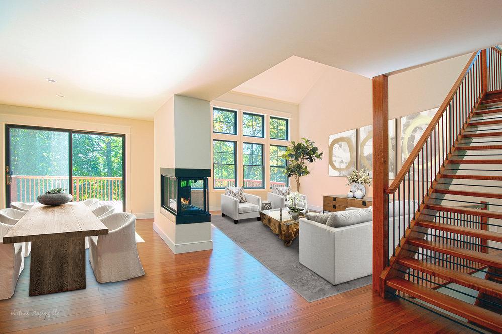 26 Elisha Purdy Rd - Living Room (Right) - Dinner Table Area (Left).jpg