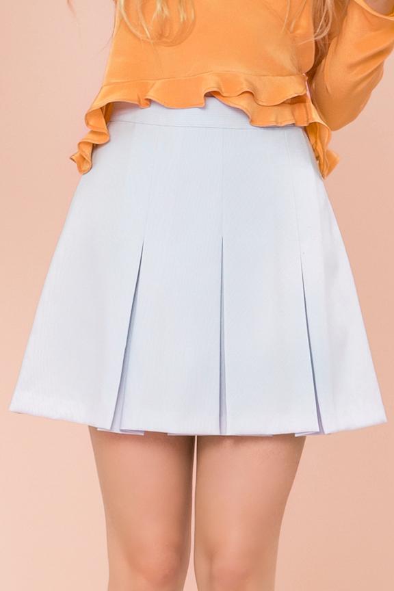 74bc5d3adc Via Los Angeles — Saul Pastel Blue Pleated Skirt