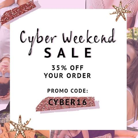 Get 35% off our entire site. 💘 Happy Holidays! Xoxo from LA