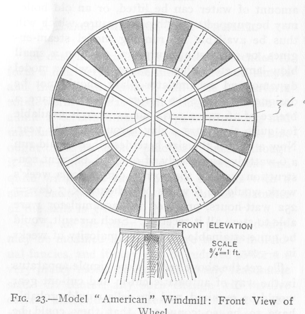 "36"" wind wheel ""American"" model windmill"